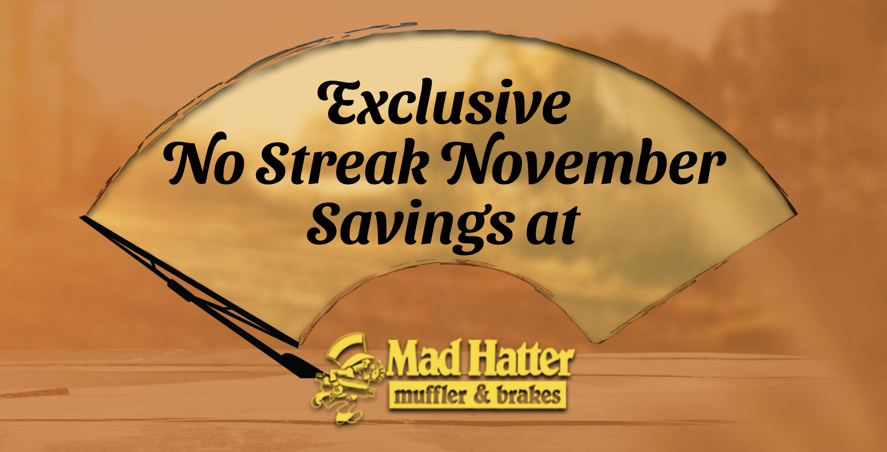 No Streak November is Here. Keeping Your View Clear!